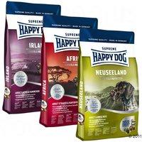 Happy Dog Culinary World Tour Mixed Trial Pack 3 x 4kg - Toscana, New Zealand, Ireland