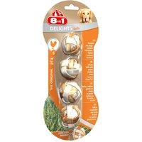 4 Balles fourrées à mâcher taille S 8in1 Delights pour chien - Friandises pour chien