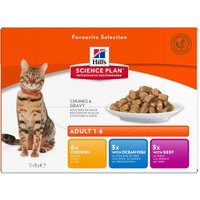Hills Science Plan Feline Pouches Mega Pack 48 x 85g - Young Adult Sterilised