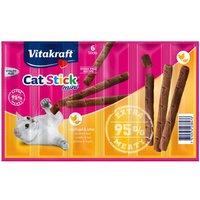 Bâtonnets à mâcher Vitakraft Cat Stick Mini, volaille & foie - 6 x 6 g