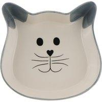 Trixie Cat Face Ceramic Bowl - 0.25 litre