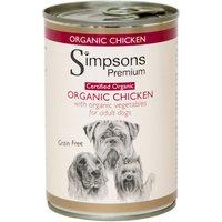 Simpsons Premium Dog Certified Organic - Chicken Casserole - 6 x 400g