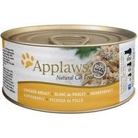 Applaws Cat Food 70g - Chicken in Broth - Chicken Breast with Duck 24 x 70g