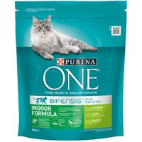 Purina ONE Indoor Turkey & Whole Grains Dry Cat Food - Economy Pack: 2 x 3kg