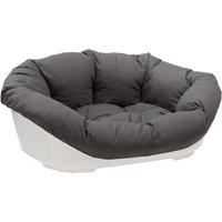 Ferplast Sofa Dog Den with Cover Anthracite - Size 4: 61.5 x 45 x 21.5 cm (L x W x H)