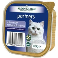 Arden Grange Adult Cat Salmon with Mackerel & Prawns - Saver Pack: 32 x 100g