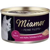 Miamor Fine Fillets Saver Pack 24 x 100g - White Tuna & Veggies in Jelly