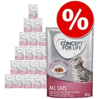 Concept for Life 24 x 85 g - Pack Ahorro - All Cats en gelatina