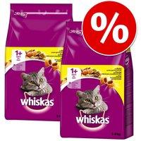Whiskas 1+ años para gatos - Pack Ahorro - Adult con cordero 2 x 3,8 kg