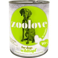 zoolove Hearty Game Casserole Wet Dog Food - 6 x 800g