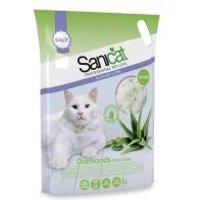 Sanicat Diamonds Aloe Vera arena de sílice para gatos - 5 x 5 l - Pack Ahorro