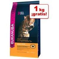 Eukanuba 4 kg pienso para gatosen oferta: 3 + 1 kg ¡gratis! - 4 kg Adult Top Condition 1+