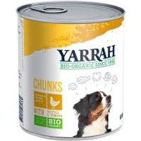 6 x 820 g Yarrah Bio Nassfutter zum Sonderpreis! - Bio Huhn & Bio Rind mit Bio Brennnessel & Bio Tomate (6 x 820 g)