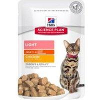Hill's Adult Light para gatos - 24 x 85 g Pollo