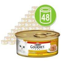 Purina Gourmet Gold Fondant 48 x 85 g - Pack Ahorro - Atún
