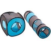 Túnel Connect 2 en 1 para gatos - 4 sets (4 túneles y 4 cubos)