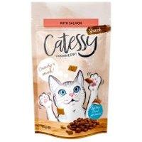 Catessy snacks crujientes para gatos 65 g - Vacuno y malta (anti bolas de pelo)