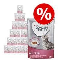 Concept for Life 24 x 85 g - Pack Ahorro - All Cats en salsa