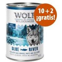 Wolf of Wilderness 12 x 400 / 800 g en oferta: 10 + 2 ¡gratis! - Oak Woods, con jabalí (12 x 800 g)