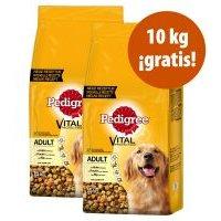 Pedigree pienso para perros 2 x 15 kg en oferta: 20 + 10 kg ¡gratis! - Adult con buey y verduras (2 x 15 kg)