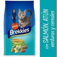 Brekkies con salmón, atún, verduras y cereales para gatos - 15 kg