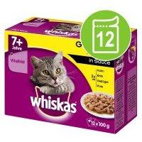 Whiskas 7+ años 12 x 85/100 g en bolsitas - Selección de pescados y carnes en salsa (12 x 100 g)