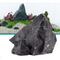 Schwarzer Felsen - 80 cm Set: 11 Natursteine, ca. 8 kg