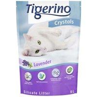 Tigerino Crystals Lavendel Katzenstreu - 6 x 5 l - Sparangebot!