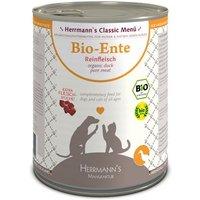 12 x 800 g Sparpaket Herrmann´s Reinfleisch zum Sonderpreis! - Bio Ente Pur