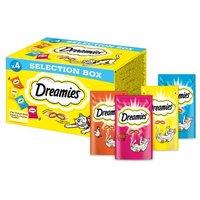 Dreamies Mixbox - 4 x 30 g Selection Box (Huhn, Käse, Lachs, Rind)