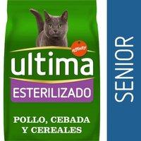 Ultima Esterilizado Senior pienso para gatos - 3 kg