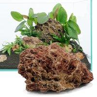 Petrified Leaf Rock Aquarium Decoration - 80cm Set: 11 natural rocks, approx. 5kg