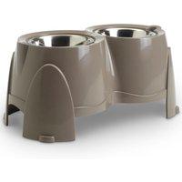 Porte-gamelles Savic Ergo Feeder 2 x 0,85 L / 1,5 L - capacité : 2 x 0,85 L - 15,5 cm de diamètre, 18,5 cm de hauteur