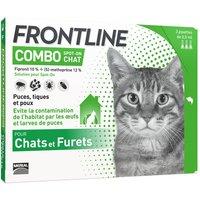 Combo Frontline® 3 pipettes Spot-on Chat contre puces, tiques et poux