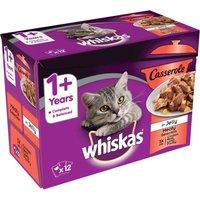 Whiskas 1+ Casserole Meaty Selection in Jelly - 12 x 85g