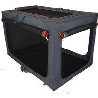 Deluxe Aluminium Folding Nylon Crate - Size L: 91 x 61 x 58 cm (L x W x H)