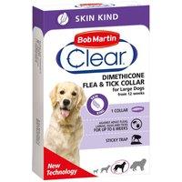 Collier antiparasitaire Bob Martin Clear pour chien - longueur 60 cm pour les chiens de grande taille