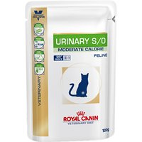 Royal Canin Veterinary Diet Cat - Urinary S/O Moderate Calorie - Saver Pack: 48 x 100g