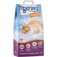 Tigerino Nuggies Cat Litter - Babypowder Scented - Economy Pack: 2 x 14l