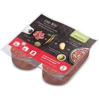 proCani Menu BARF bœuf, carottes, pâtes pour chien - 10 x 200 g (2 x 200 g par barquette)