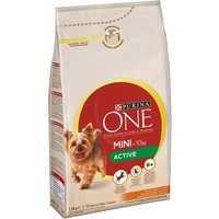 Purina One Small Breed Active Chicken & Rice - Economy Pack: 2 x 1.5kg