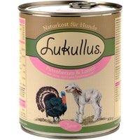 Lukullus Junior Turkey Hearts & Lamb - 6 x 400g