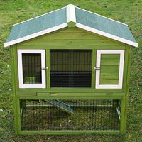 Outback All-Seasons Rabbit Hutch with Run - 117 x 66 x 114.5 cm (L x W x H) *