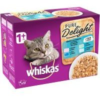 Whiskas 1+ Adult Pure Delight en bolsitas 12 x 85 g - Pure Delight selección de aves en gelatina