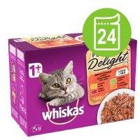 Whiskas 1+ Adult Pure Delight en bolsitas 24 x 85 g - Pack Ahorro - Pure Delight selección de pescados en gelatina