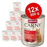 Animonda Carny Adult 12 x 800 g - Pack Ahorro - Pack mixto de vacuno