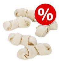 Pack Ahorro: Barkoo huesos naturales con nudos de vacuno - 12 x 24 cm
