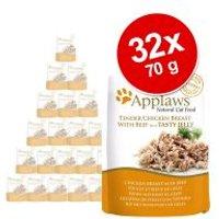 Applaws Cat Pouch en gelatina par gatos 32 x 70 g - Pack Ahorro - Atún