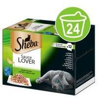 Sheba 24 x 85 g en tarrinas Multireceta - Pack Ahorro - Sauce Lover