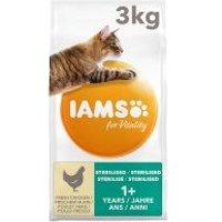 IAMS for Vitality Adult Sterilised con pollo fresco - 3 kg